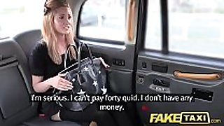 Fake taxi diminutive blonde in pull up nylons