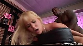 Blonde milf unfathomable interracial anal taboo
