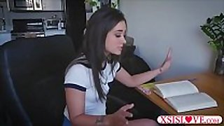 Stepbrother helps with homework for a blow job stimulation a...