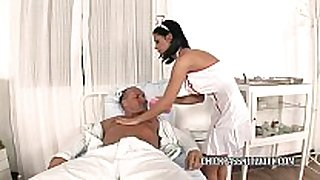 Slutty nurse dark angelika bonks in the hospit...