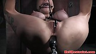 Bdsm sub anal permeated with sex machine