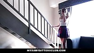 Mybabysitters - cute young babysitter copulates daddy