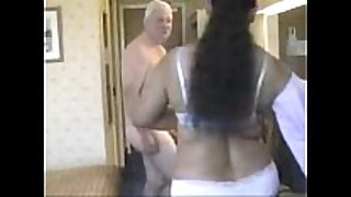 Indian woman having sex with mature man-copypas...