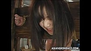 Asian slut has a waxing and thrashing sadomasochism session