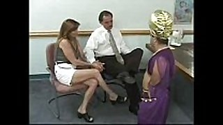 Couple acquires blackmailed by a midget - that honey has t...
