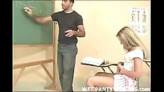 Hot teacher makes this schoolgirls panties moist