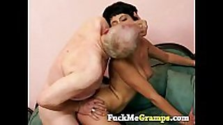 Horny old man with chloe