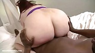 Redhead bbw eliza allure fucks her first large bl...
