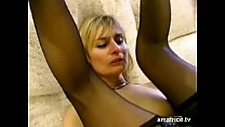 Blonde aged cheats on her husband