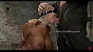 Sex slave with biggest love bubbles fastened like a hog and...