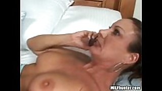 A call from her husband during the time that that chick acquires fucked