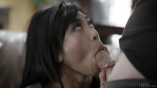 Exotic bombshell gets properly fucked by her BF's brother